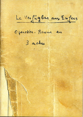 Figure 1 : Page titre du manuscrit de Germaine Tillion pour Le Verfügbar aux Enfers (telle que reproduite en fac-similé dans Tillion 2005).