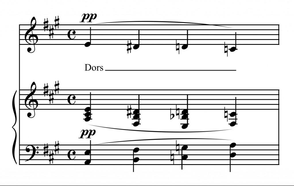 Figure 10 : Georges Dandelot, « Berceuse », mes. 7 (Dandelot 1929).
