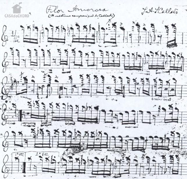 Figure3: <em>Flor Amorosa</em> (1915 ) by J.A. Callado (source: Casa do Choro).