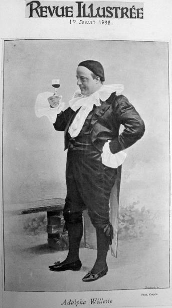 Figure 7 : Adolphe Willette en Pierrot noir en couverture de <em>La Revue Illustrée</em> du 1er juillet 1898.
