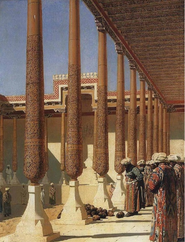 Figure 2: Vasily Vereshchagin, <em>Presenting the Trophies</em>, 1872. Oil on canvas, 171,5 x 240,8 cm. © 2015, State Tretyakov Gallery, Moscow.