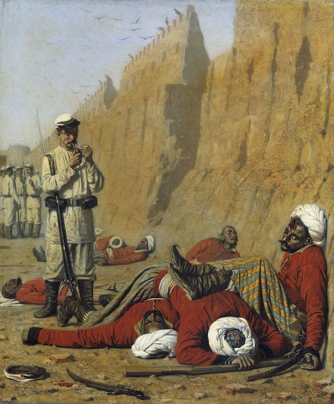 Figure 3: Vasily Vereshchagin, <em>After Failure</em>, 1868. Oil on canvas, 47,5 x 39,5 cm. © 2015, State Russian Museum, Saint Petersburg.