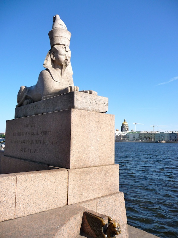 Figure 4: Egyptian Sphinx in front of the Academy of Arts in Saint Petersburg, 2012. Photograph courtesy of Lori McLeese.