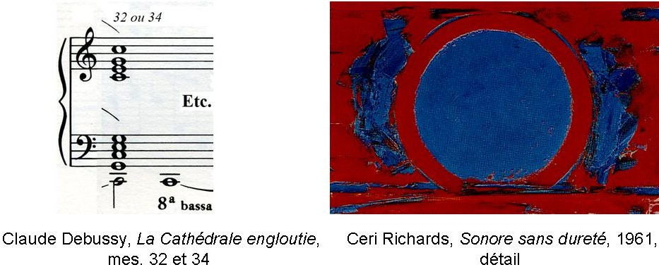 Figure 18 : Ceri Richards, <em>Sonore sans dureté</em>, 1961. Résonance musicale et picturale de do majeur.