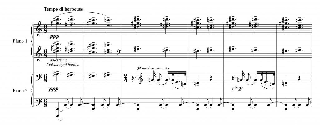 Figure 4 : Alfredo Casella, <em>Pagine di guerra</em>, op. 25, « En Alsace. Croix de bois… » (1915).