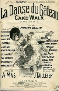 Figure 1 : Jean Taillefer, <em>La danse du gâteau</em>, opening position, Lyon, Orgeret, 1904.