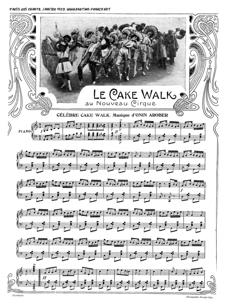 Figure 2 : Onin Arober [=Nino Robera], <em>Célèbre cake walk, Paris qui chante</em>, January 31, 1903.