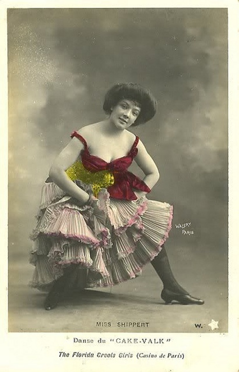 "Figure 6: Lucien Walery, ""Miss Shippert. Danse du 'cake-valk'. The Florida Creole Girls,"" 1902."