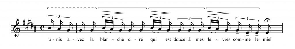 Figure 18 : Claude Debussy, « La flûte de Pan », mes. 6 (Debussy 1899).