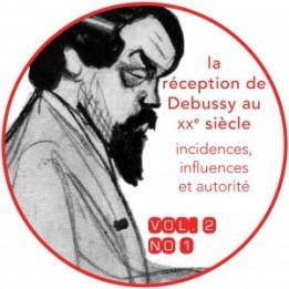 Couverture du vol. 2, n<sup>o</sup> 1 de la <em>Revue musicale OICRM</em> : « La réception de Debussy au XX<sup>e</sup> siècle. Incidences, influences et autorité ». Image : Jean Dulac, Caricature de Debussy, 1912 (bibliothèque de l'Opéra Garnier, Paris), via Wikimedia Commons. Graphisme : Solenn Hellégouarch.