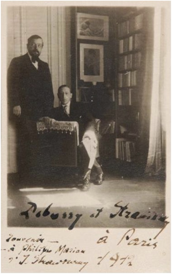 Figure 15: Debussy and Stravinsky, photo 1912.