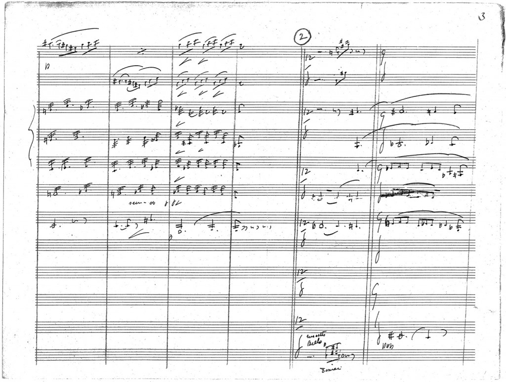 Figure 3: John Philip Sousa, third page of autograph score from the arrangement of <em>Prélude à l'après-midi d'un faune</em>.