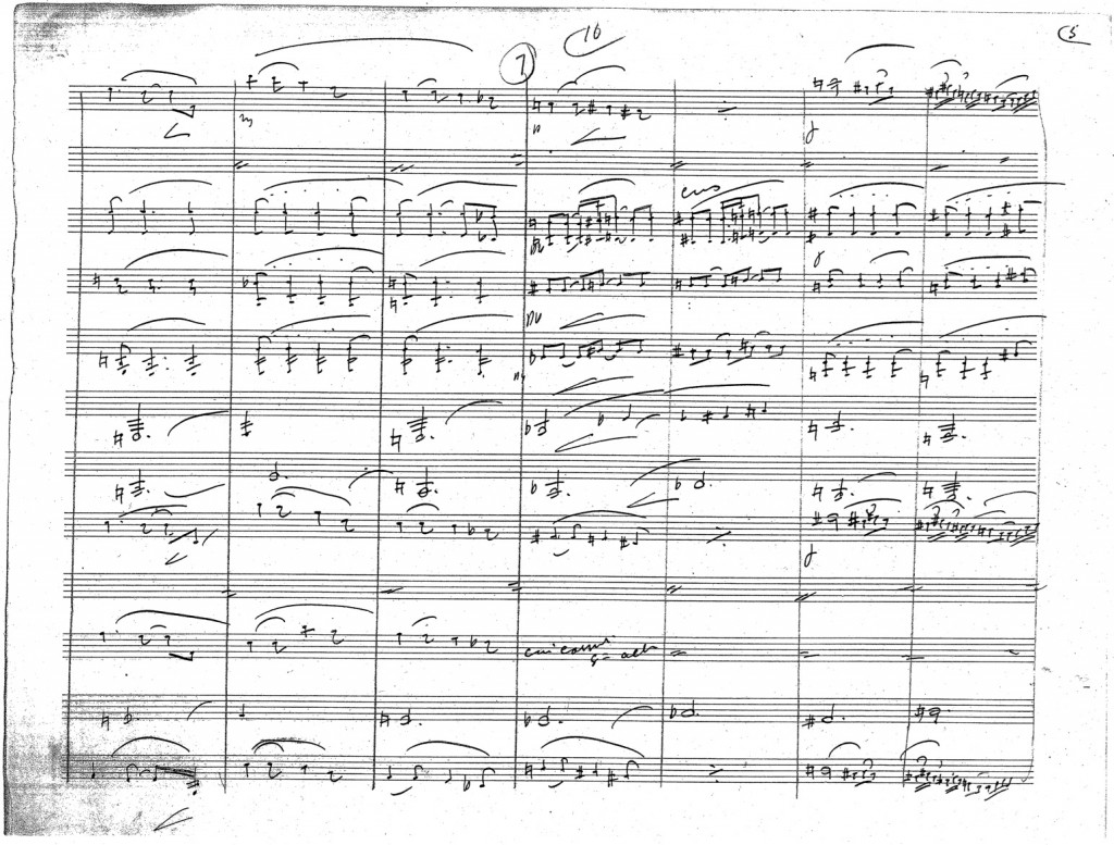 Figure 6: John Philip Sousa, tenth page of autograph score from the arrangement of <em>Prélude à l'après-midi d'un faune</em>.
