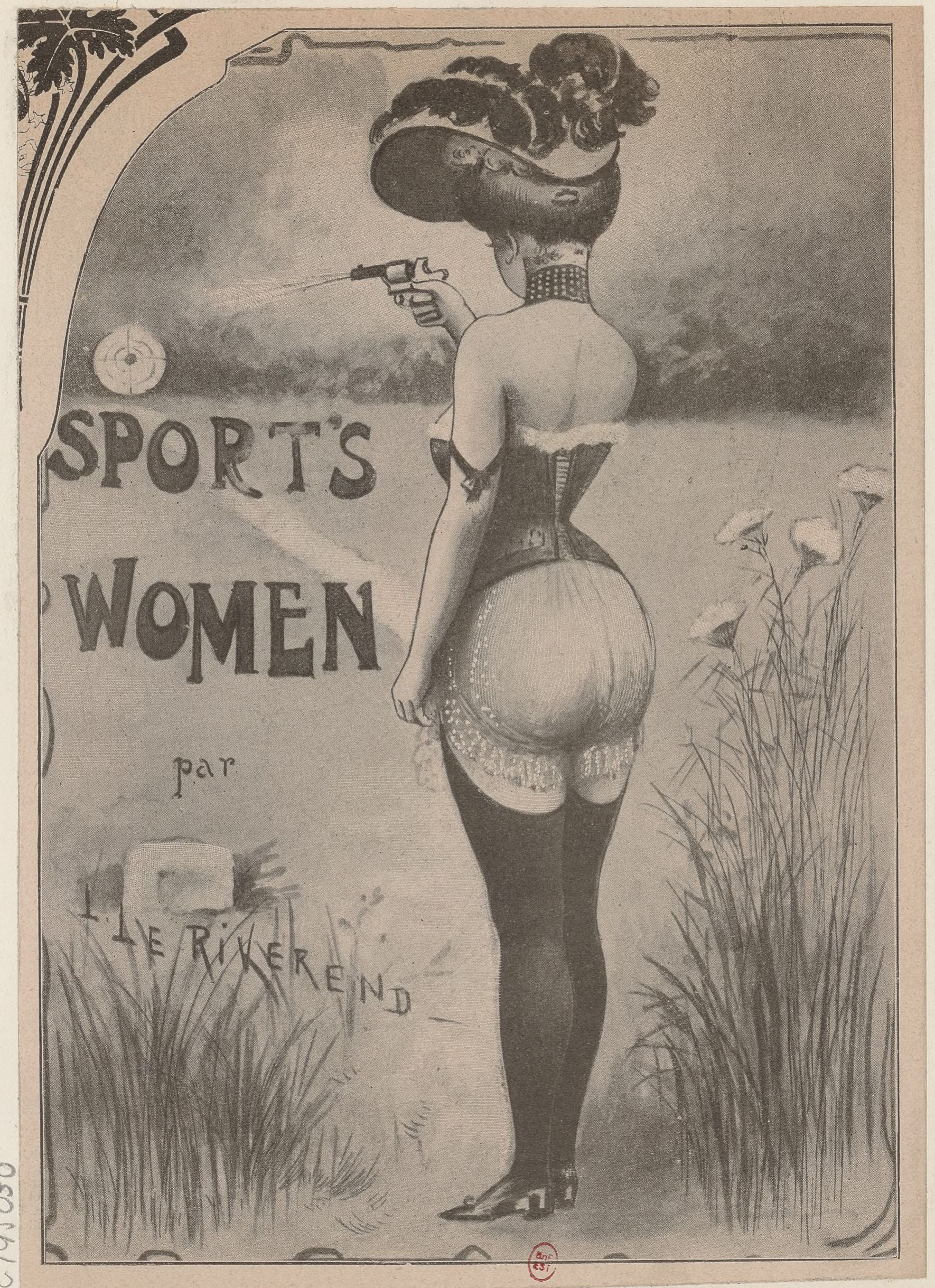 Figures 5a et 5b : Le Riverend, Sport's Women, s. d. : a) [sans titre] ; b) « La Yachtwoman ». Défets recueillis dans Collection Jaquet. Dessinateurs et humoristes français des XIXe et XXe siècles, série 1 : L-M, tome 4, image no 84 (BnF, MFILM G-195029-195030, disponibles sur Gallica, a) et b)).