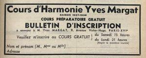 Figure 4. Bulletin d'inscription au cours gratuit pour les lecteurs du Guide du concert sur le frontispice du vol.24, no5 (29octobre 1937), p.101.