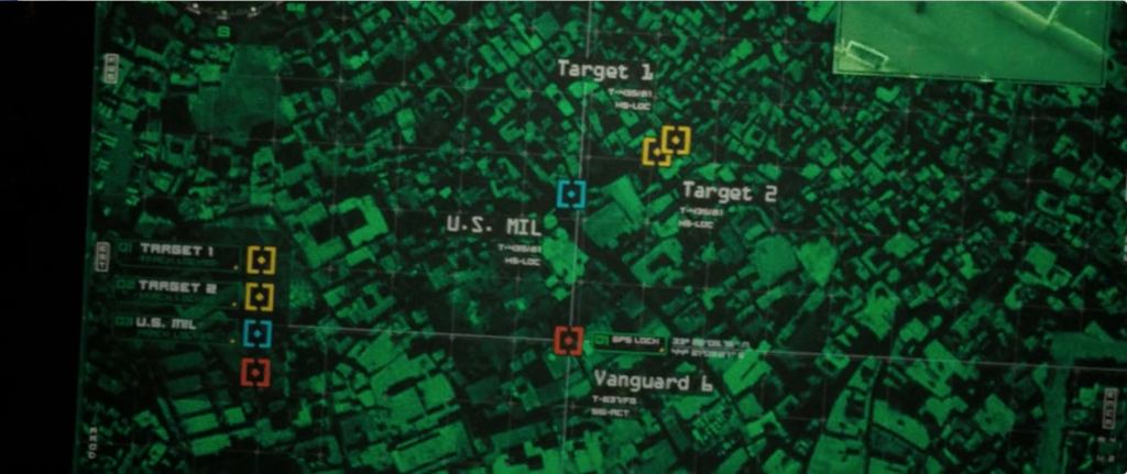 Figure 6 : Cartographie, Paul Greengrass, <em>Green Zone</em> (2010), 01:31:45 © Universal Pictures.
