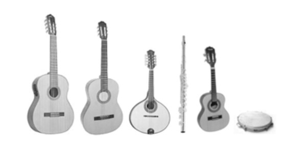 Figure 2: Traditional choro instruments (source: Panoramas Scholarly Platform).