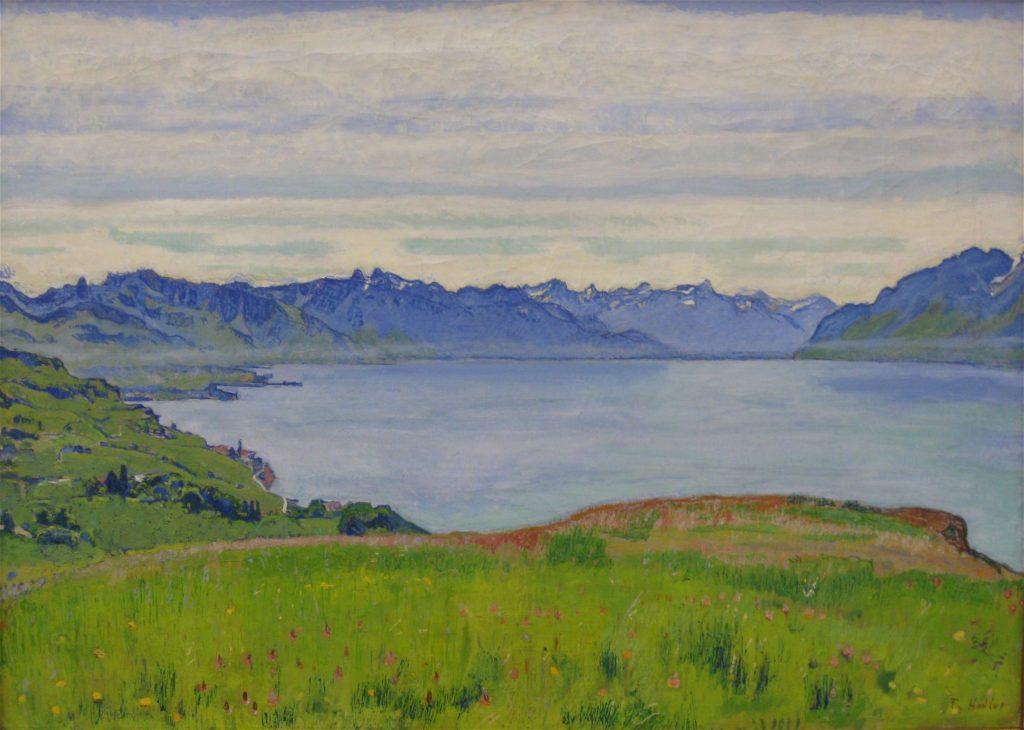 Figure 1: <em>Vue sur le lac de Genève</em> (1906) de Ferdinand Hodler.