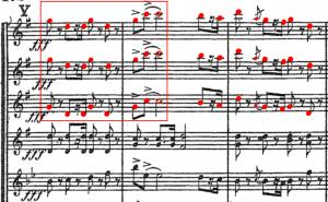 Piotr Ilitch Tchaïkovski, <em>Symphonie n<sup>o</sup>6</em> en <em>si</em> mineur (1893), «Allegro molto vivace», p. 172 de la partition.